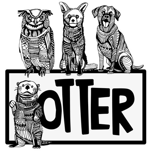 So the otter is definitely Matt Gaydar, Josh has got to be the fox, I think Ryan is the dog, and Jeremy the owl. Courtesy of Lea Carey.