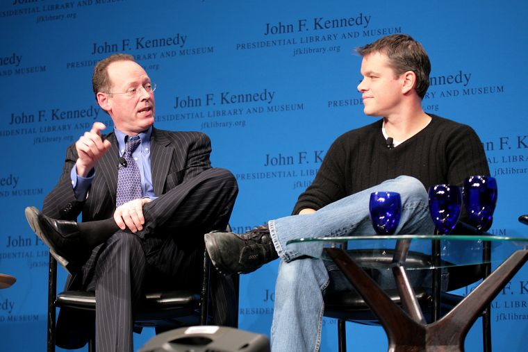 Paul Farmer and Matt Damon at Haiti Forum-1